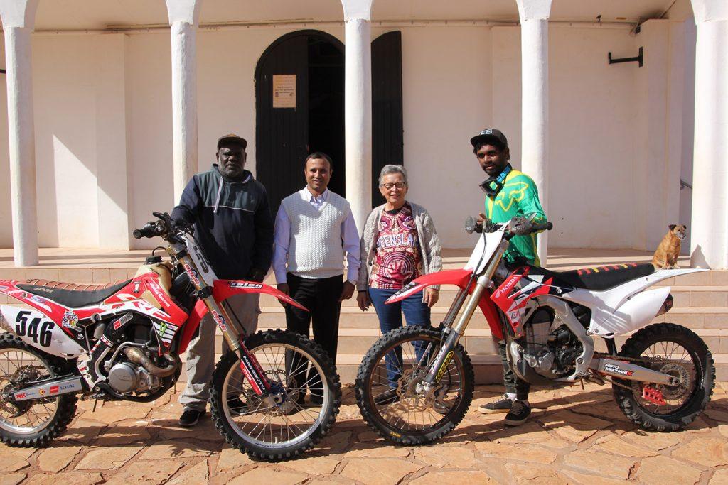 Riders with Fr Prakash and Sr Liz